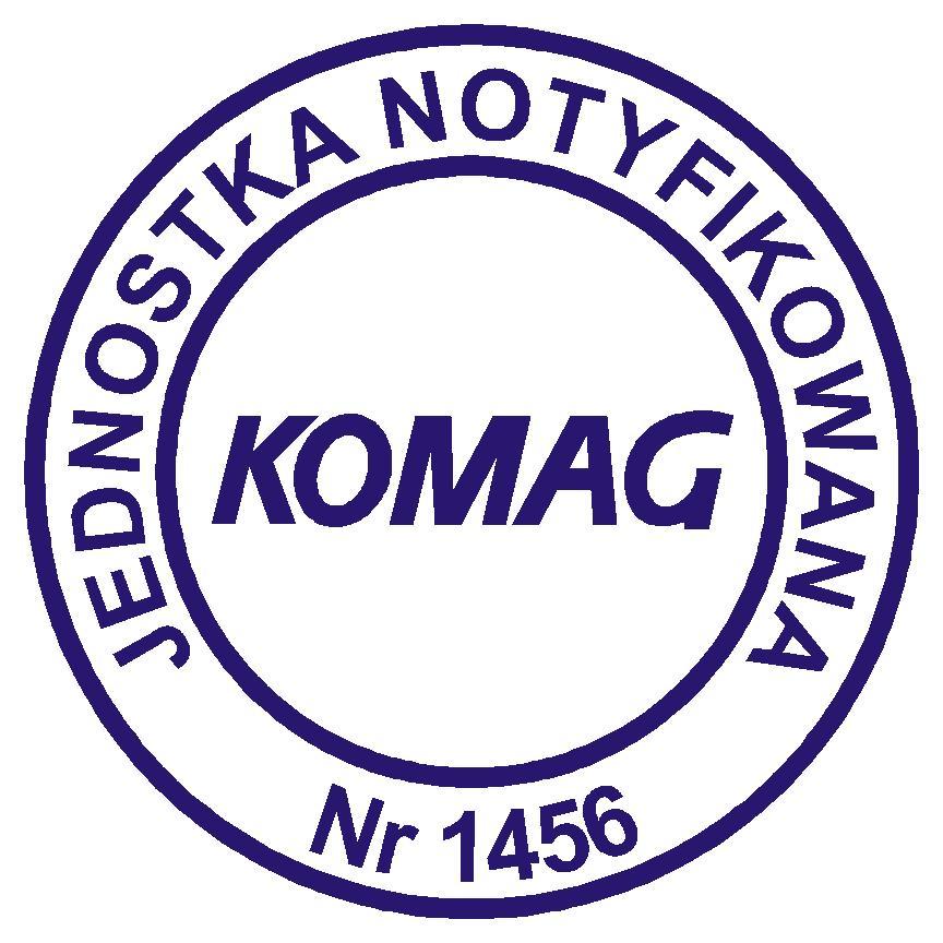 Oznaczenie - Jednostka notyfikowana KOMAG numer 1456